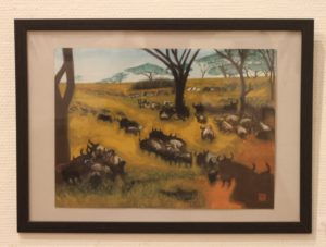 18 ヌーの群れ   ケニア国立公園