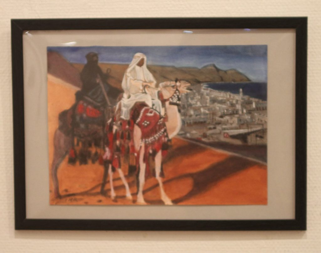 LAWRENCE OF ARABIA was a movie we high school classmates saw at a Yokohama theater.LAWRENCE and his friend ALI look at the port Aqaba which is possessed by Turkey.