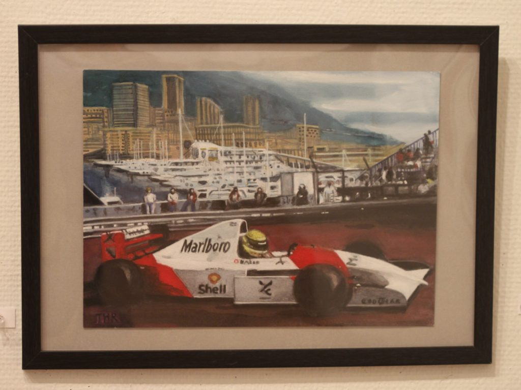 This is the Honda FⅠ machine that Ayrton Senna drove at Monaco GP.He died in the racing accident after Honda withdrew from FⅠ.At that time I worked for Honda at the head office and saw so many flowers and bouquets around our head office building and the Aoyama Street, honoring Mr. Senna.