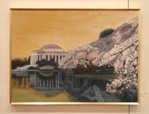 39 咢堂桜 米ワシントン ジェファーソン記念館