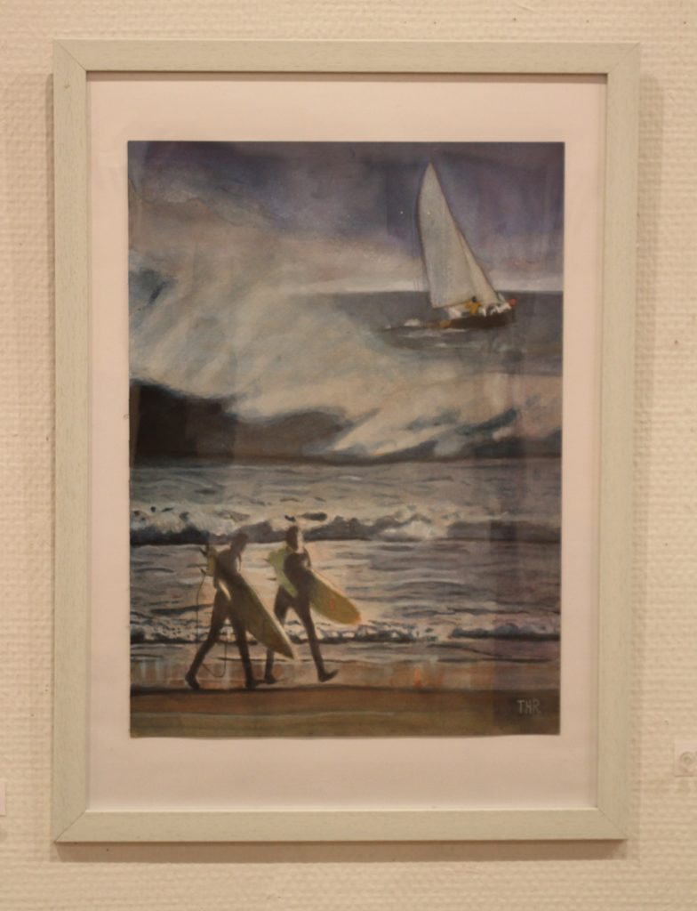 I enjoyed a summer holiday at Cape Cod when I went to Boston to study English.I imagined converting the wood painting of Corot to a seaside one.